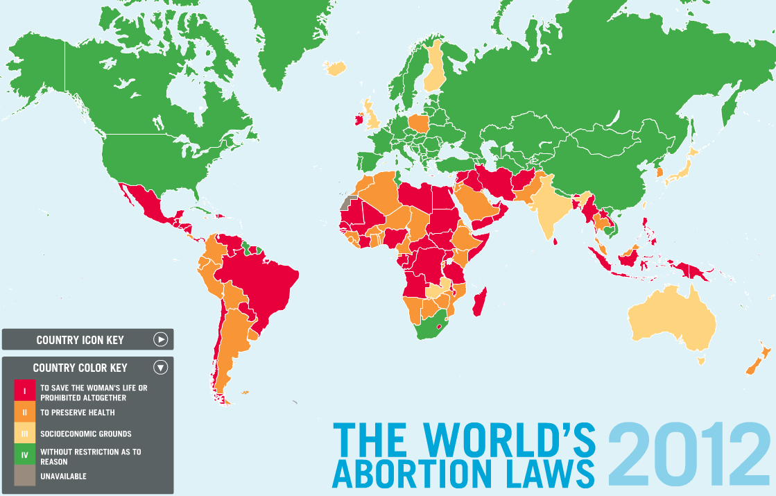 Global abortion laws, 2012