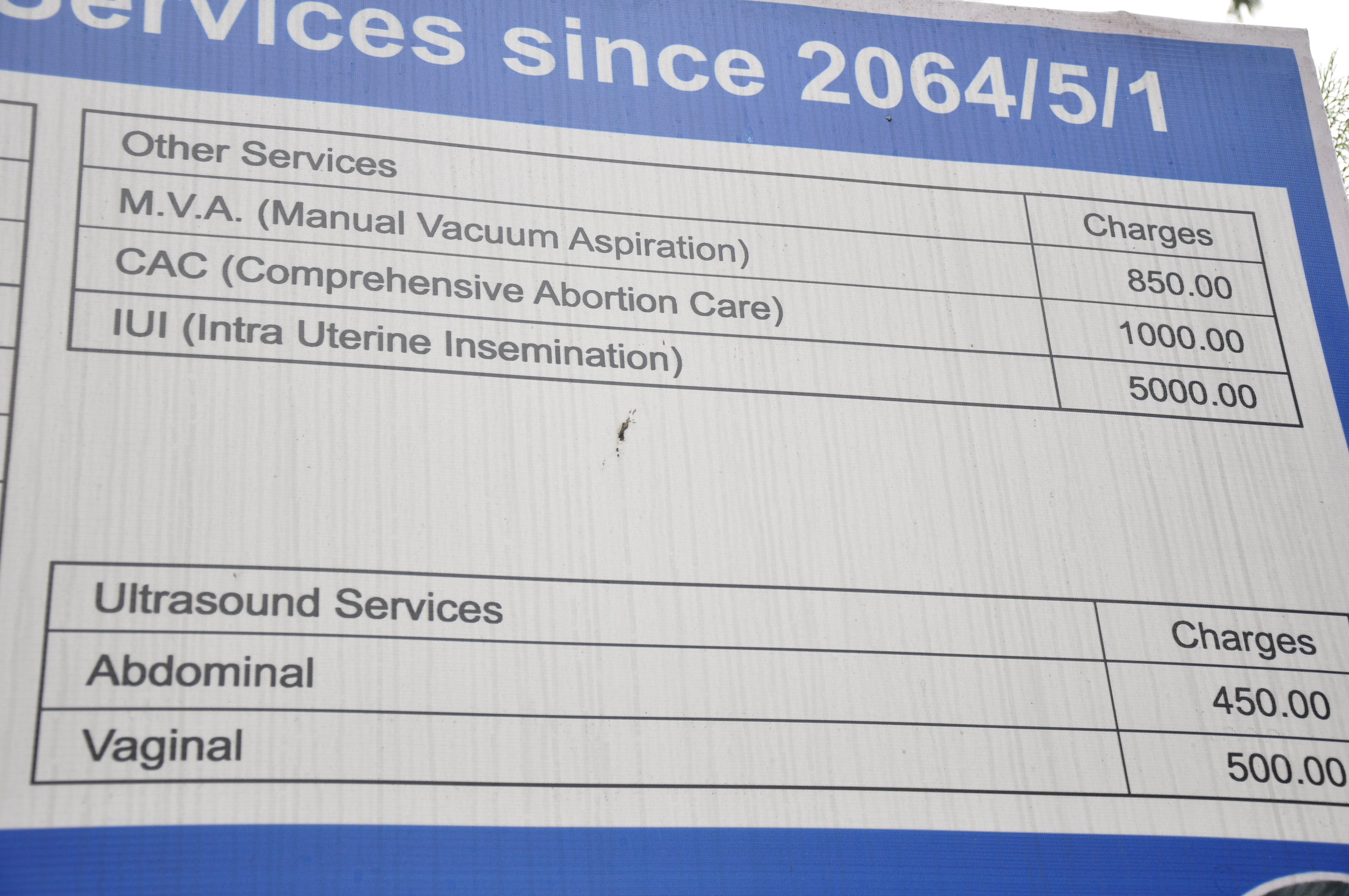 Cost of Abortion in Nepal (Thapathali hospital)