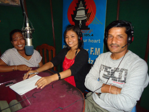 Mr. Sharad with youth champion in Radio talk show.