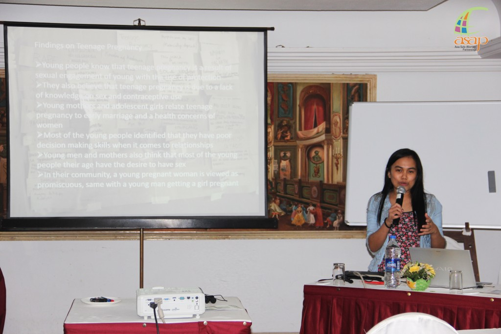 Danica Philippines reporting her research